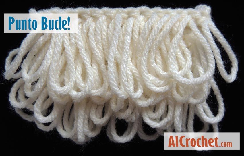 punto bucle al crochet