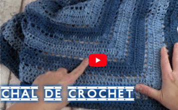 chal en crochet triangular