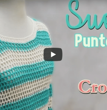 Suéter a crochet para mujer